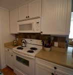 Kitchen with stove/microwave/toaster